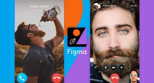 Skype Call Figma Mobile Concept