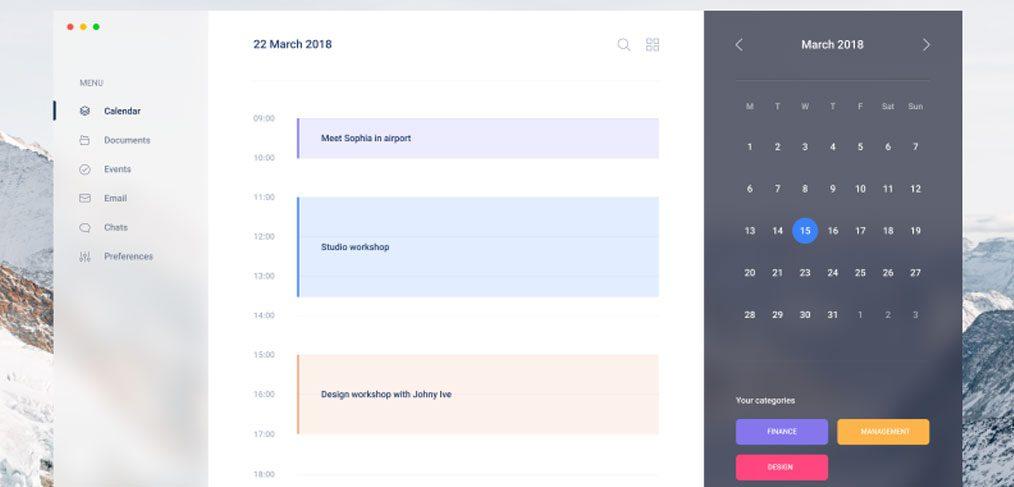 Figma Calendar web template - FigmaCrush com