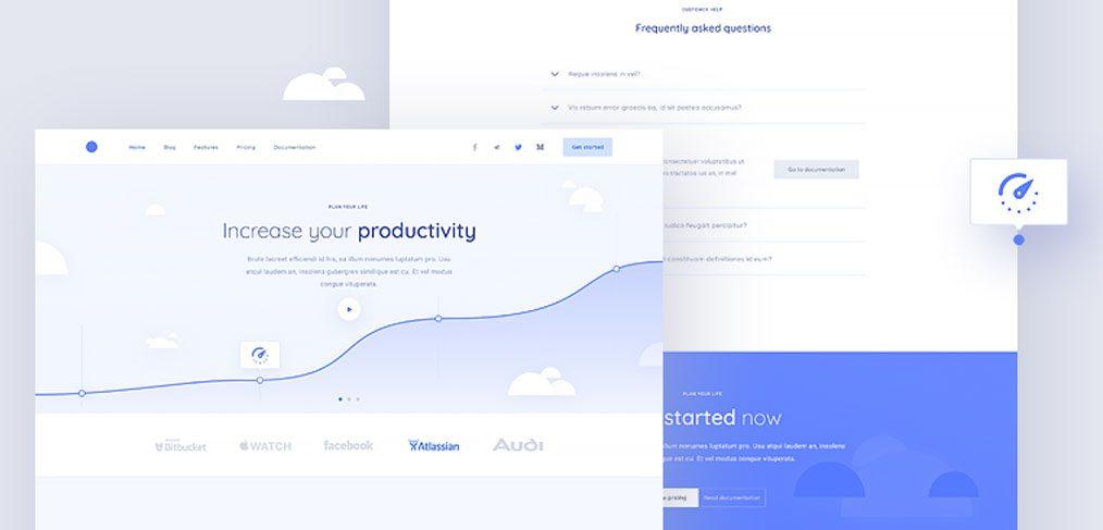 Clean Figma website template - FigmaCrush com