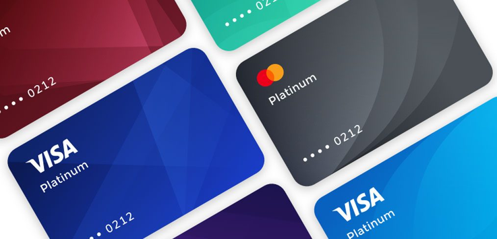Credit card templates for Figma