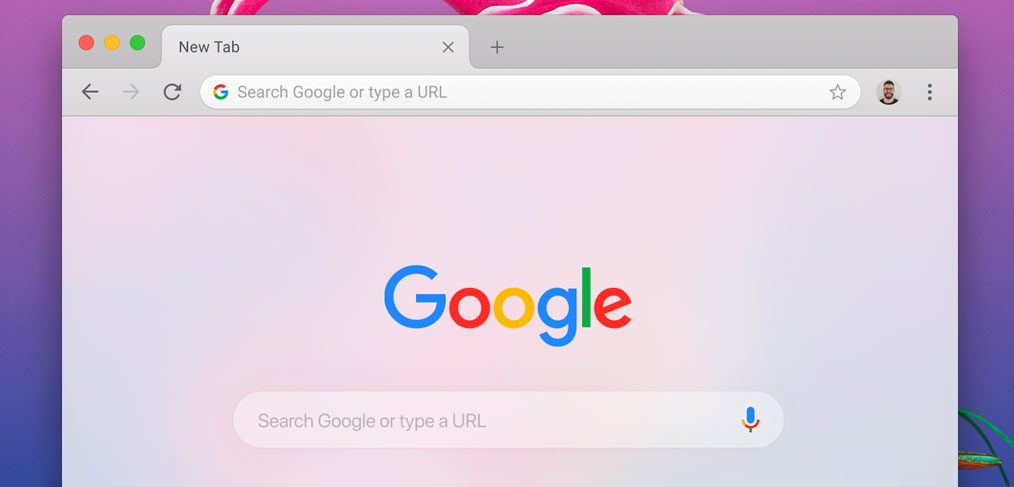 Chrome mockup for MacOS