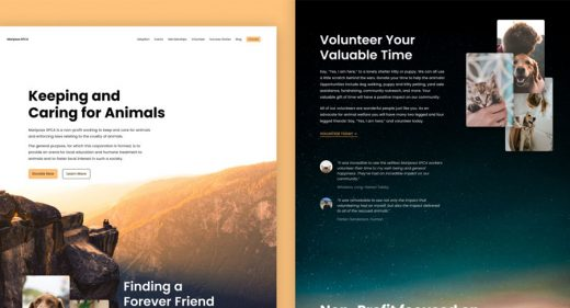 Mariposa website template