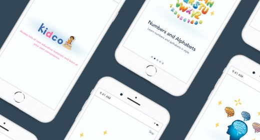 Kidco - Mobile Onboarding screens
