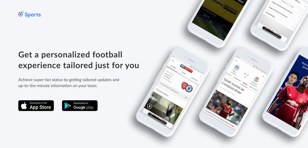 Sports Responsive Landing page