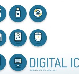 Digital Data Mini Icon Set