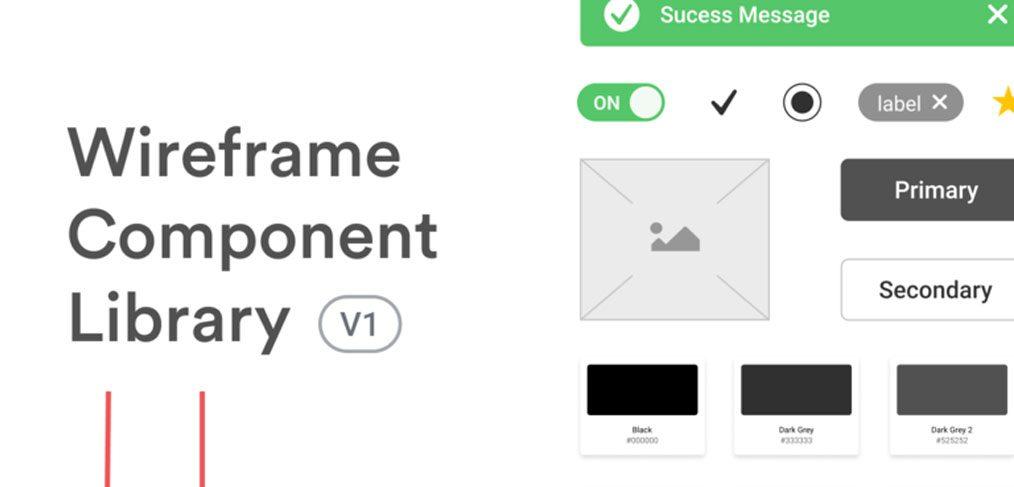 Wireframe Figma component library - FigmaCrush com