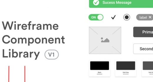 Wireframe component library