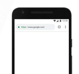 Chrome mobile mockup for Figma