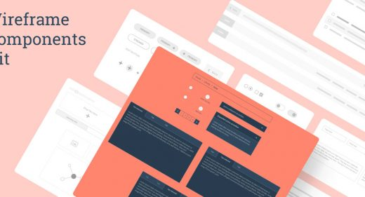 Desktop Wireframe Components Kit