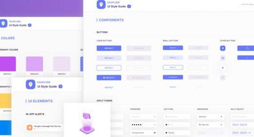 Eggplore - Free UI Styleguide