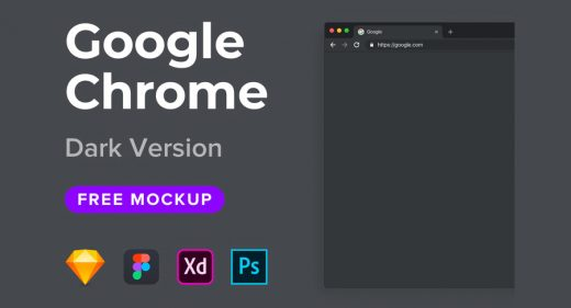 Google Chrome Dark Mockup