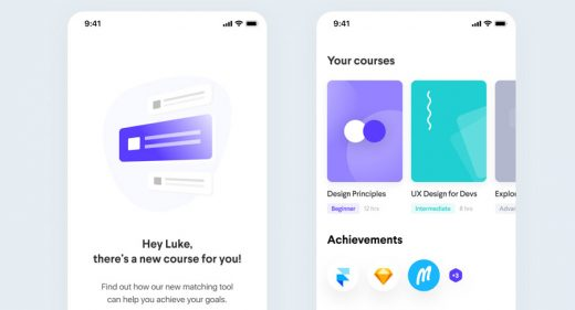 Learning app free Figma template