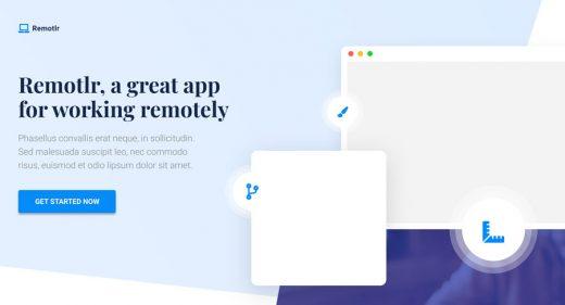 Remotlr Landing page template