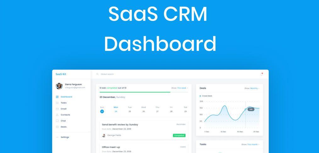 Saas free Figma dashboard template