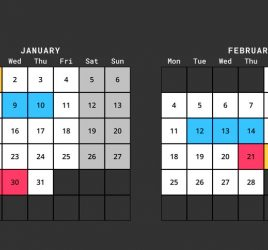 2019 Planning Calendar