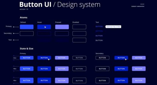 Free Figma Buttons Design System