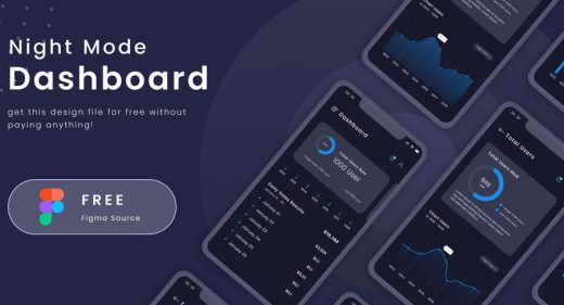 Night Dashboard mobile template