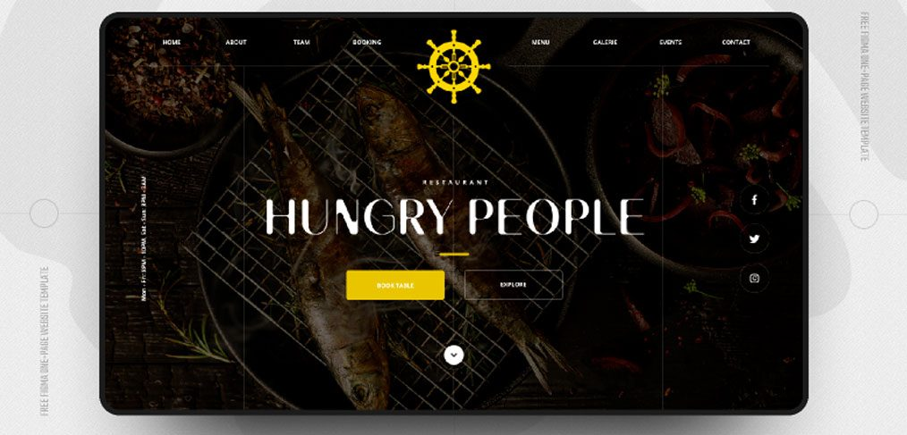 Restaurant Website Figma Template