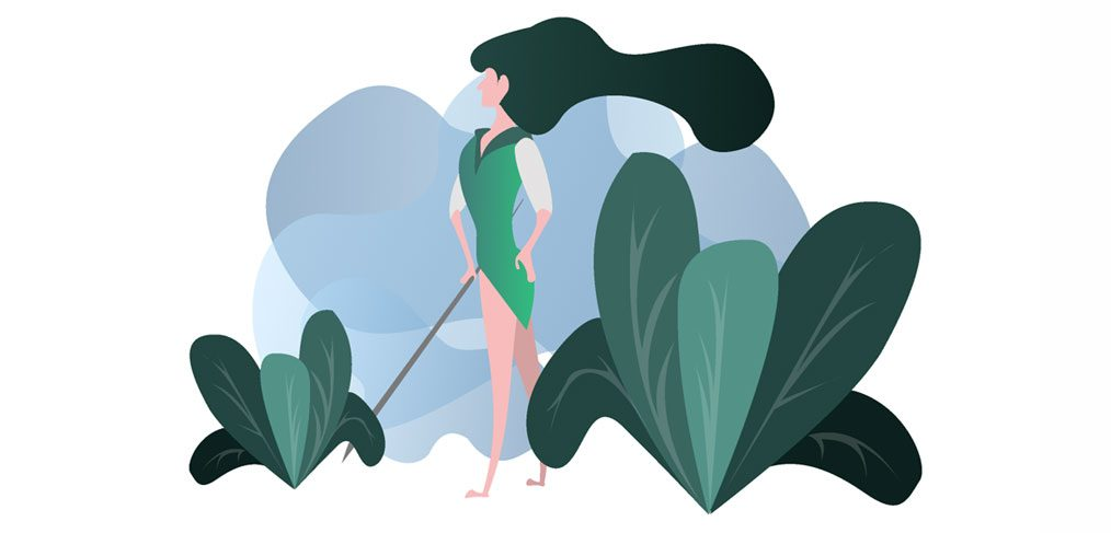 Forest Protector - Girl Illustration