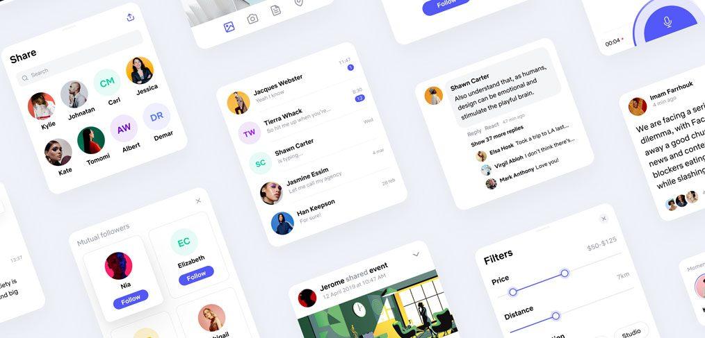 Free Figma Social UI kit