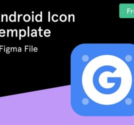 Android app icon Figma template