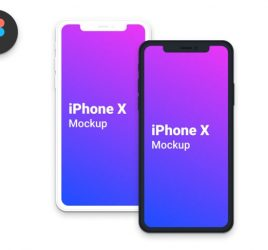 Clean iPhone X Figma mockups