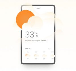 Figma Weather forecast concept