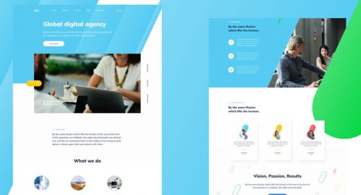 Figma agency homepage template