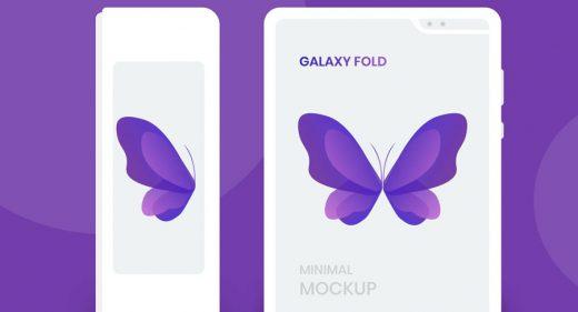 Galaxy Fold white Figma mockup