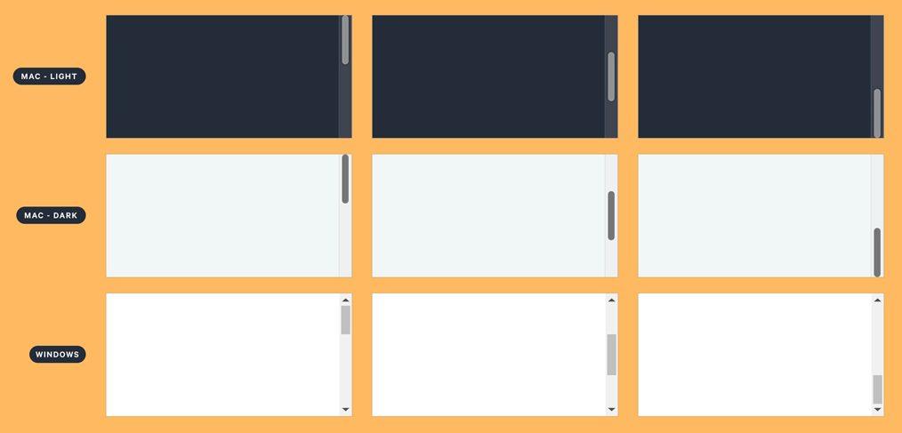 Desktop scrollbar Figma components