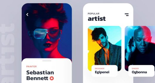 Figma Music app design concept