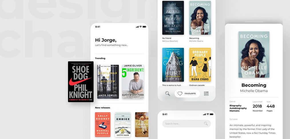 Book reading Figma app template