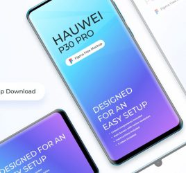 Figma Huawei P30 free mockup