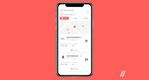 Pharmacy finder Figma app template