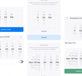 iOS datepicker Figma template