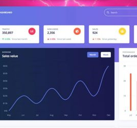 Argon dashboard template Figma freebie