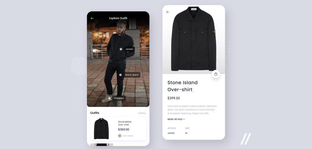 Clother recognition app concept