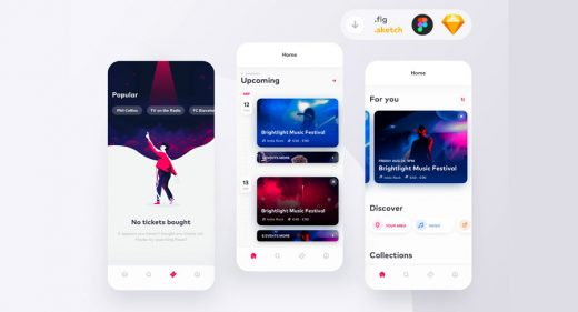 Event booking app Figma template