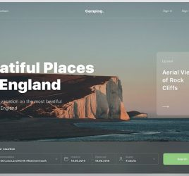 Figma Travel landing page