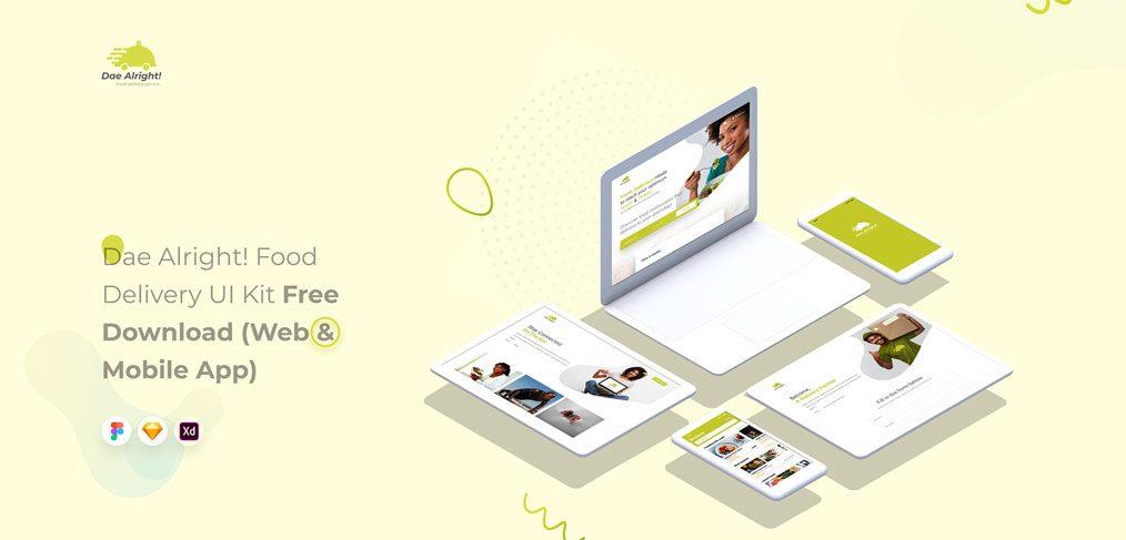 Free restaurant Figma UI kit
