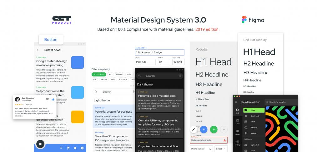 Figma Material Design System (Premium) - FigmaCrush com