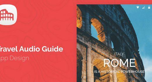 Travel Audio Guide mobile concept