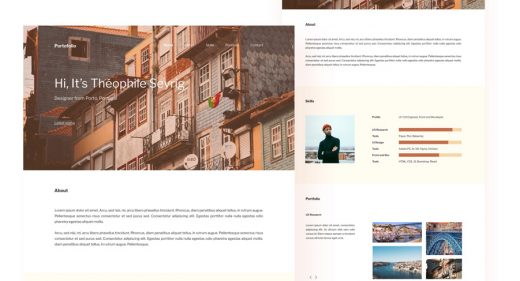 Free Figma portfolio template