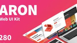 Aron – Figma Premium Web UI kit