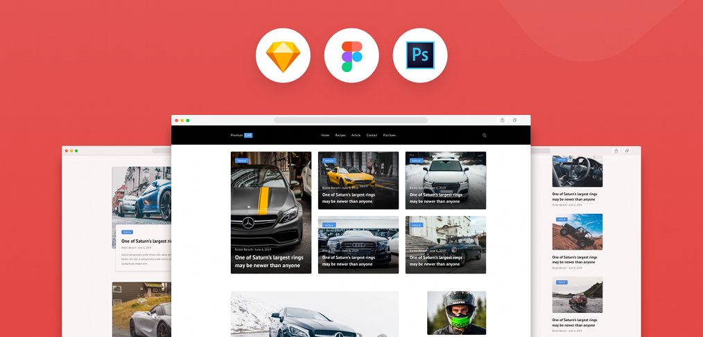 Car blog template for Figma