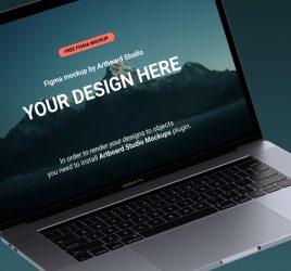 Figma free Macbook mockup