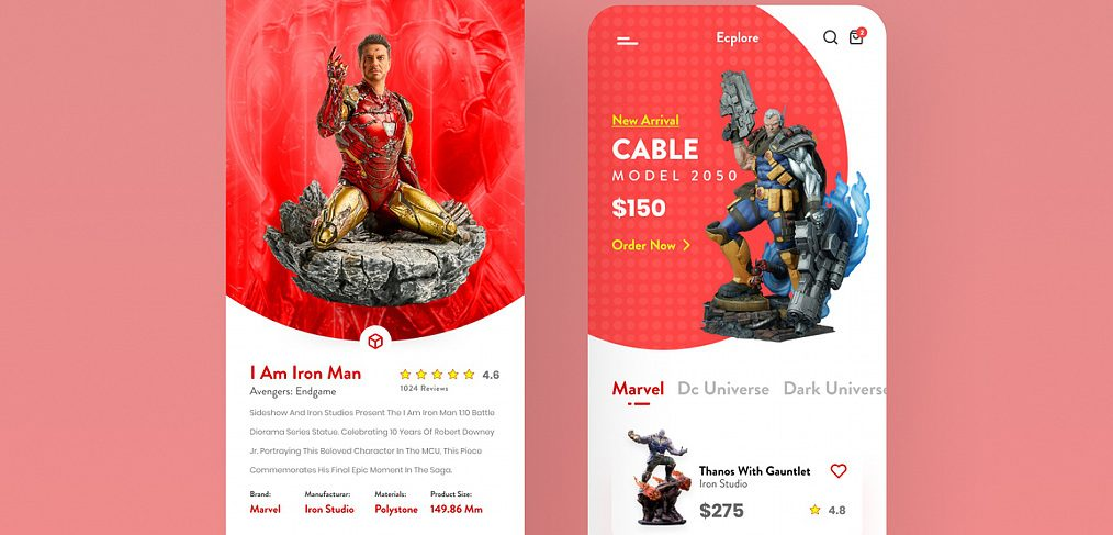 Action figure app template