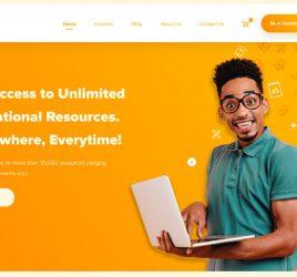 E learning free Figma UI kit