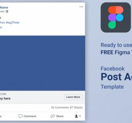 Facebook ad free Figma template