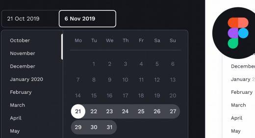 Figma calendar widget UI